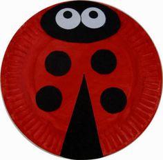 Ladybug Paper Plate Craft