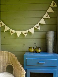 Butterfly bunting wedding garland flags by Kettle of Fish