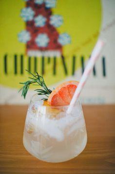 Sparkling Rhubarb & Flower Cocktail