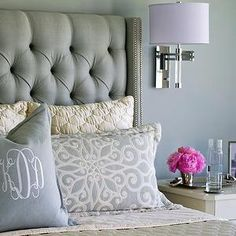Cream Velvet Tufted