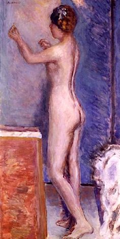 Nu Sur Fond Bleu - Pierre Bonnard