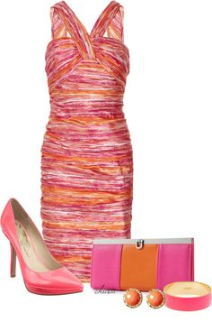 """""""Pink and Orange"""" by christa72 ❤ liked on Polyvore"""