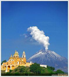 Puebla Cholula y el Popo