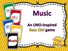 Music: An UNO-inspired Bass Clef Card Game