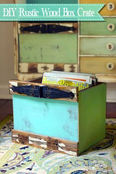 How to Build Custom Rustic Box Crates - great for bookcases or in place of drawers!