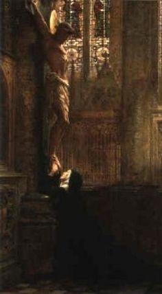 by Sir Thomas Francis Dicksee/ English Pre-Raphaelite Painter