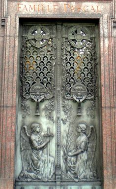 very pretty doors...Pere Lachaise Cemetery, Paris.