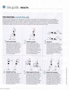 NO CRUNCH ABS (Real Simple Magazine, February, 2012)