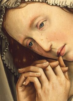 The Mourning Mary Magdalene (detail), Colijn de Coter, ca. 1500