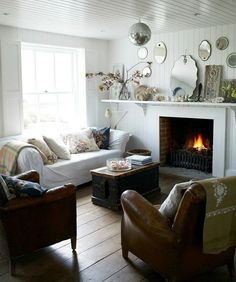 Foster house-filming location-fireplace