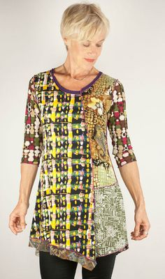 Anya SF designer tunic, Idea for piecing