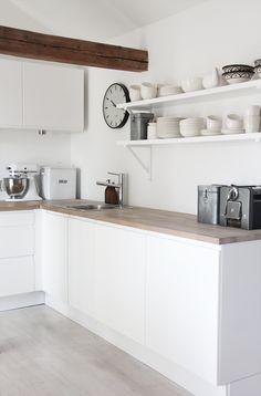 white, wood + open shelves. elisabeth heier