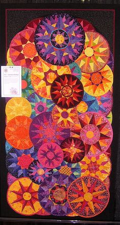 Quilt made by Margaret Coombs, Pismo Beach, CA  Large and Small - creates interest