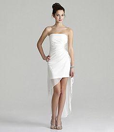 Teeze Me Strapless HiLow Dress #Dillards