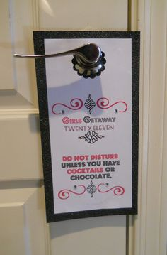 Girls weekend door tag (but less pink)