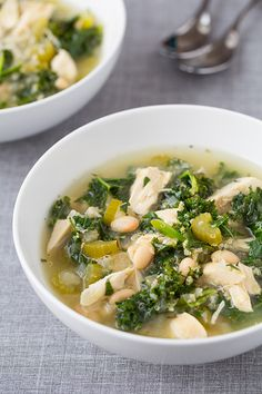 Slow Cooker Quinoa, Chicken and Kale Soup - Cooking Classy
