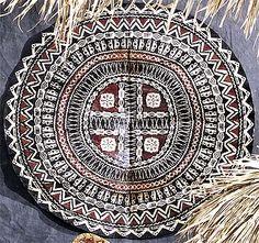 Round Fijian Tapa