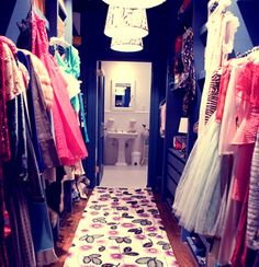 Carrie Bradshaw's closet in all its glory.