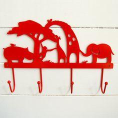 Cool wall hooks for kids: Lavish & Delight Safari hooks