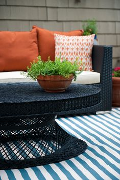 Patio Decorating Ideas: A Modern Chic Patio Refresh by Tobe Reed of Because It's Awesome-- on The Home Depot Blog