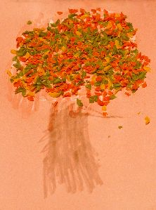 Fall Noodle Tree Craft - - Pinned by #PediaStaff.  Visit http://ht.ly/63sNt for all our pediatric therapy pins