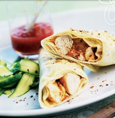 Easy Healthy Recipes: Chicken Burritos with Avocado and Tomato