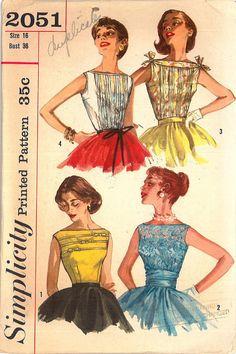 1950's Boatneck Blouse