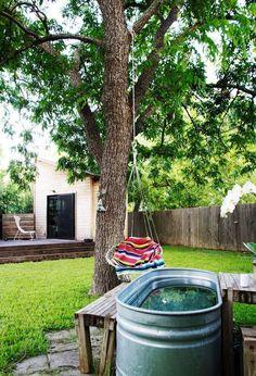 backyard tub + hammock!