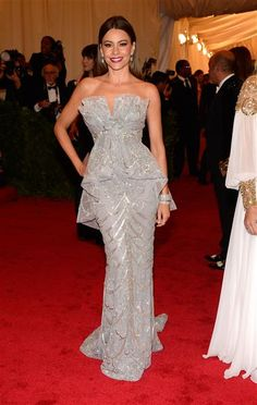 """Sofia Vergara attends the Costume Institute's gala for the exhibit """"Schiaparelli and Prada: Impossible Conversations"""" at New York's Metropolitan Museum of Art on May 7, 2012."""
