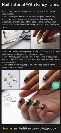 Nail Art Tutorial With Tapes | Beauty Tutorials