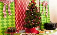 Tacky decor is perfect for an ugly sweater Christmas party