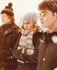 Ron, Hermione, & Harry.