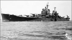 Heavy cruiser USS Chicago, Philadelphia Navy Yard, May 7th 1945.