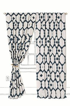 Love the fabric on these drapes
