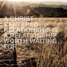 Amen! I firmly believe this! Marriage is a calling -- it's about CHRIST first and foremost, not us! If we know Christ as we claim to as Christians, then marriage, just as much as every other part of life, is a high and holy calling to pursue, and not something to be entered into with selfish thought. It's about Jesus Christ!