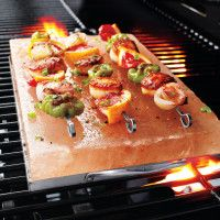 For quick grilling, this Himalayan salt plate is awesome. Adds just a little salty flavor and is really fun to use.