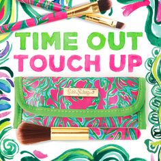 Lilly Pulitzer Printed Make-Up Brushes Gift