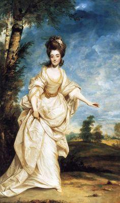 Joshua Reynolds: Portrait of Diana Sackville, 1777.