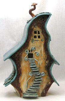 Clay Birdhouses On Pinterest Ceramic Birds Birdhouses