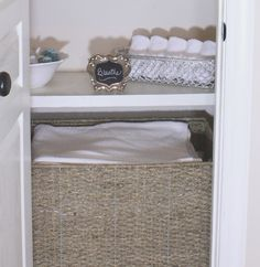O is for Organize.: Linen Closet Reveal~ make a closet smell pretty!