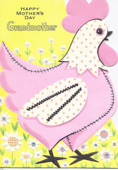 Vintage Happy Mother's Day Greeting Card