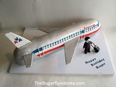 Airplane Birthday Cake by The Sugar Syndicate, via Flickr