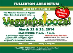 Veggiepalooza! at the Fullerton Arboretum March 21-23, 2014. #Vegetables #OrangeCounty #Vegetablesale