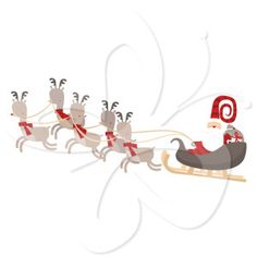 What would your Santa Claus clip art collection be with images of Santa's sleigh and reindeer?  A must-have for your Christmas clip art collection!   #clipart