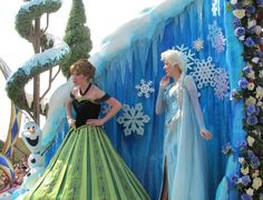 Where to find Princess Anna & Queen Elsa from Frozen at Disney World.   See: http://www.buildabettermousetrip.com/princess-anna-at-disney-world