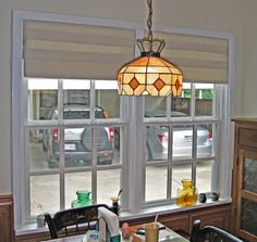 Faux roman shade valance furnished and installed by Kite's Interiors.
