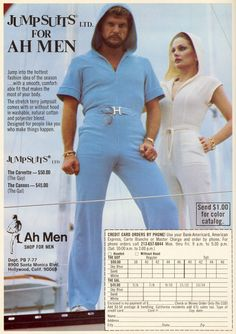 Jumpsuits for Men Ad, 1970's