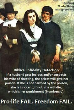 Poison her, if she survives, she's innocent. Bible morals.