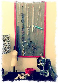 Diy jewelry oranization on pinterest jewelry holder for Make your own jewelry rack