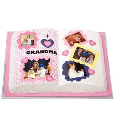 Celebrate Grandparents' Day with a Scrapbook Cake created with Wilton's Book Pan. Personalize your messages, borders and frame pictures with our Sugar Sheets! edible decorating paper.